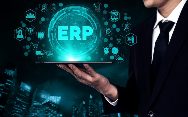 Sistema software erp enterprise resource management per piano risorse aziendali