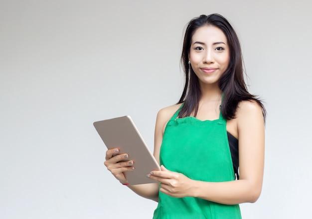 Giorno occupato della signora asiatica dell'imprenditore