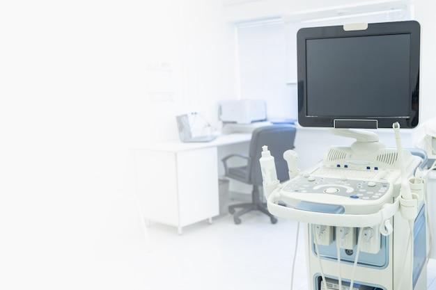Attrezzature per l'ecografia delle donne incinte copiano il monitoraggio dello spazio delle donne in gravidanza