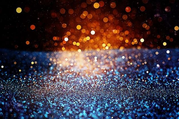 Fondo del bokeh delle luci di estive. sfondo di luci vintage glitter con luci sfocati