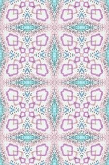 Ricamo etnico. elementi continui eleganti maya. arte dell'acquerello. sfondo damascato blu viola bianco. stile esterno ikat. ricamo etnico.