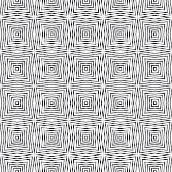 Etnico dipinto a mano modello nero simmetrico caleidoscopio sfondo tessile pronto affascinante stampa costumi da bagno tessuto carta da parati avvolgimento vestito estivo etnico piastrelle dipinte a mano