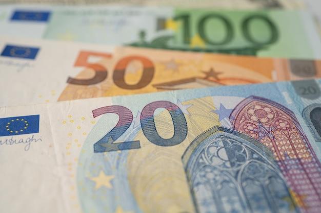 Sfondo di banconote in euro.