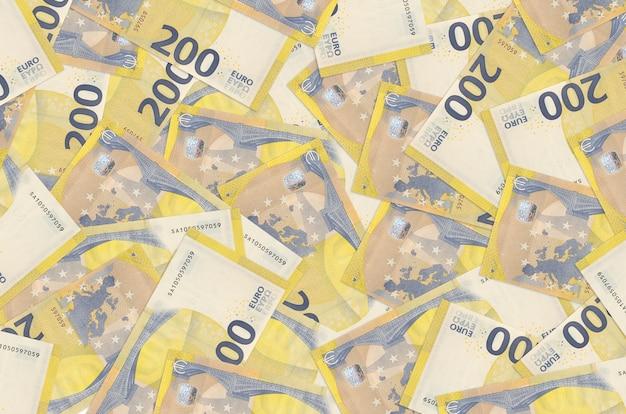 Banconote in euro si trova in un grande mucchio sfondo concettuale di vita ricca grande quantità di denaro
