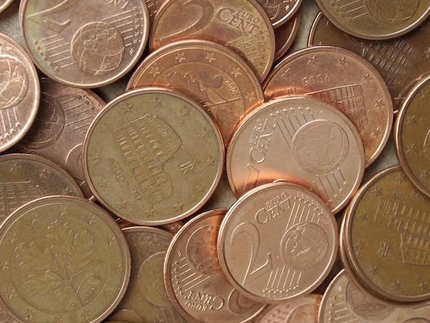 Sfondo di monete in euro