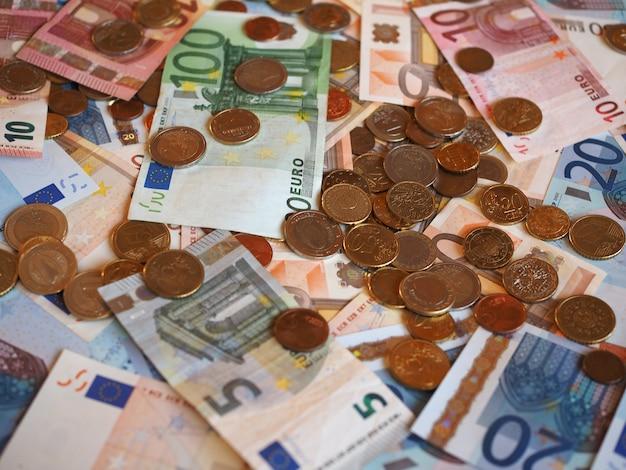 Banconote e monete in euro (eur), unione europea (ue)