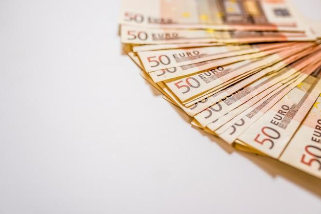 Euro banconote di denaro, sfondo astratto. euro in contanti