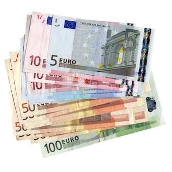 Banconote in euro isolate