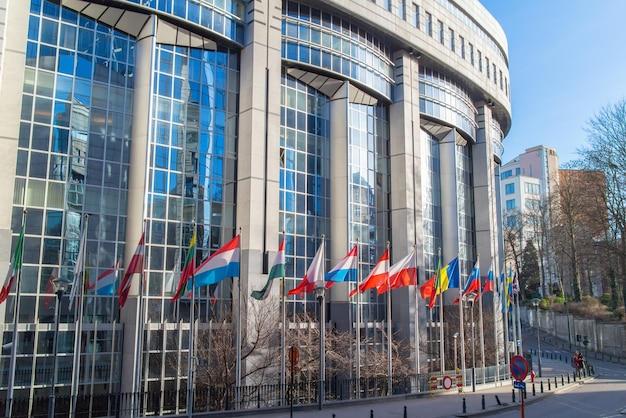 Uffici del parlamento europeo a bruxelles, belgio