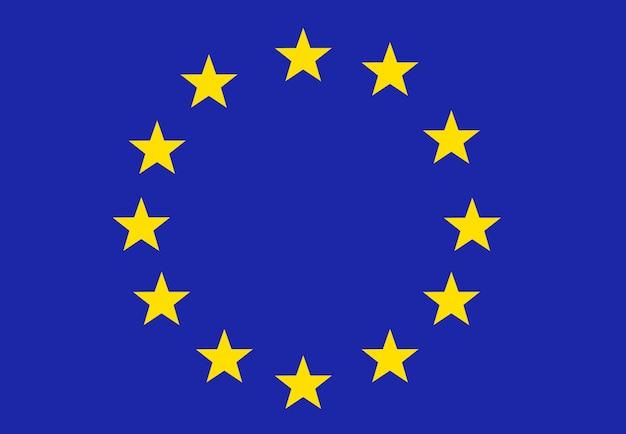 Bandiera dell'unione europea colori ufficiali correttamente simbolo dell'ue bandiera dell'europa indietro icona dell'ue