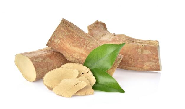 Eurycoma longifolia su bianco