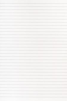 Pagina di carta del quaderno con linee