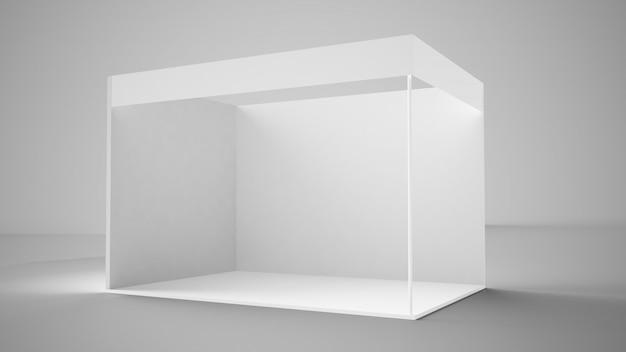 Rendering 3d stand espositivo