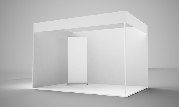 Stand fieristico rendering 3d