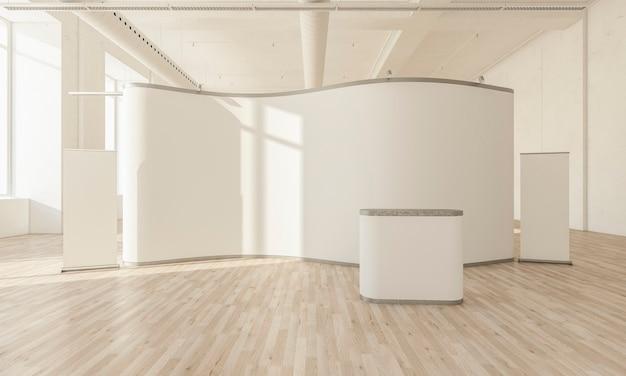 Stand espositivo all'interno della sala