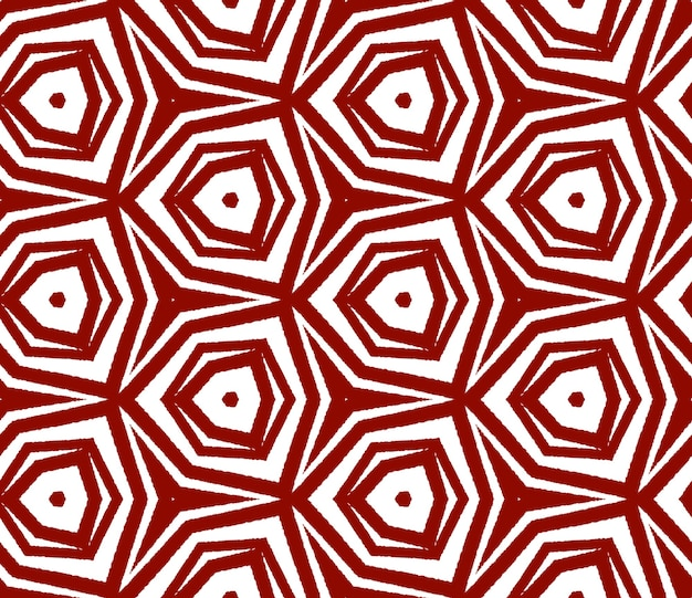 Modello senza cuciture esotico. sfondo caleidoscopio simmetrico marrone rossiccio. costumi da bagno estivi dal design esotico senza cuciture. stampa popolare pronta per tessuti, tessuto per costumi da bagno, carta da parati, avvolgimento.