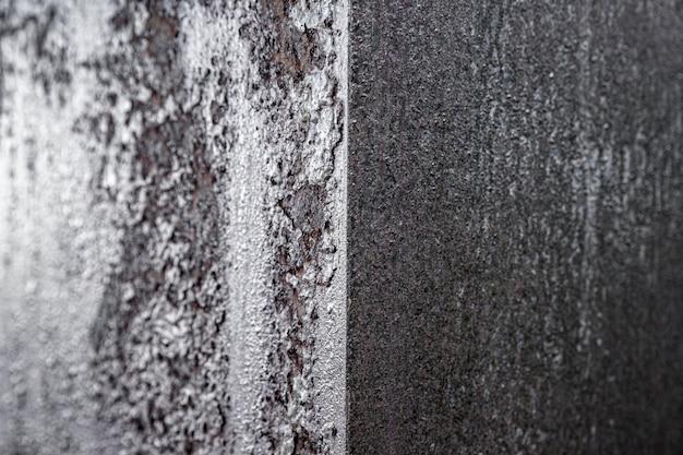Pareti di ferro arrugginite estremamente ravvicinate