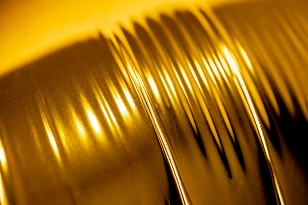 Lattina di alluminio lucido estremamente ravvicinata