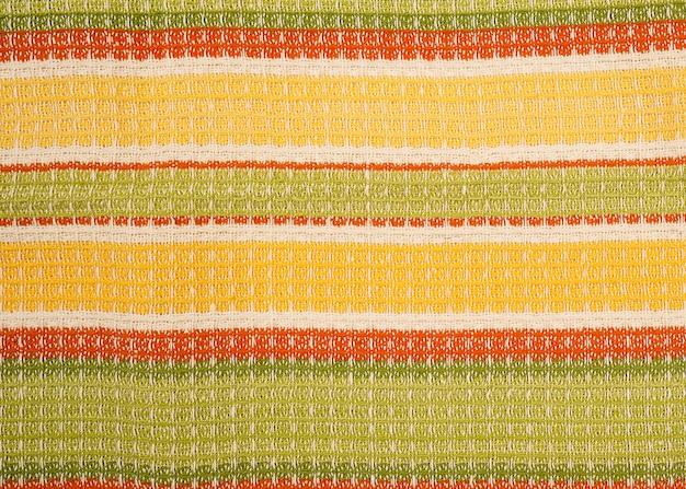 Trama del tessuto come, asciugamano in cialda di colore misto lino