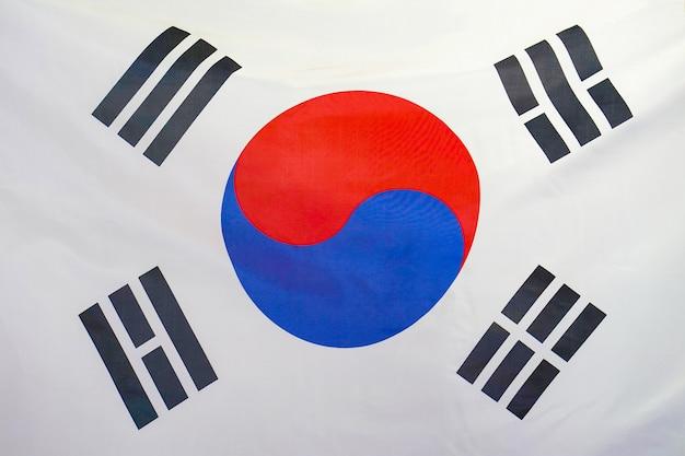 Bandiera di trama del tessuto della corea del sud.