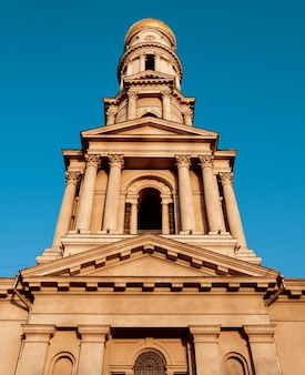 Facciata del palazzo storico. stile dell'europa centrale.