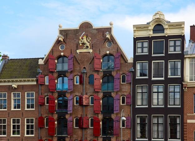Facciate di vecchie case, amsterdam, paesi bassi