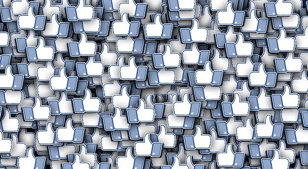 Facebook ama lo sfondo di rendering 3d