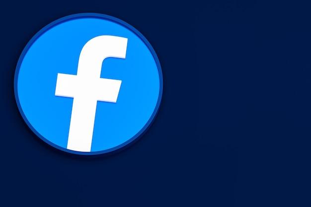 Icona di facebook logo 3d rendering