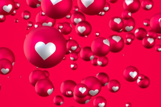 Emoji del cuore di reazione di facebook