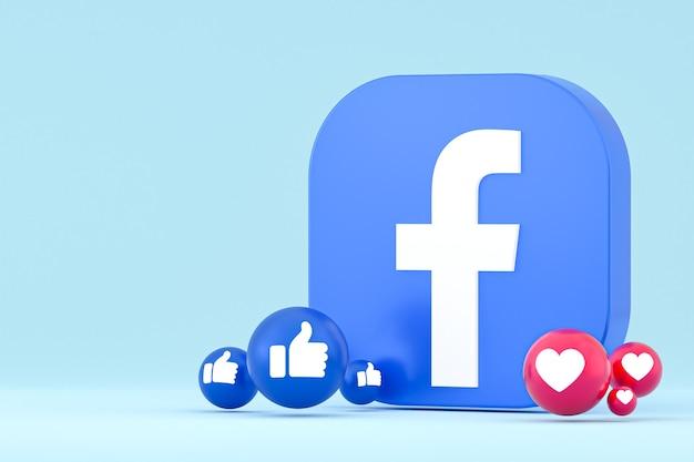 Emoji reazioni di facebook, simbolo di palloncino di social media con motivo a icone di facebook