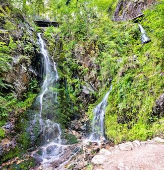 Cascata fahler nelle montagne della foresta nera. baden-württemberg, germania