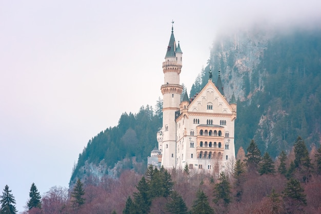 Castello da favola di neuschwanstein, baviera, germania
