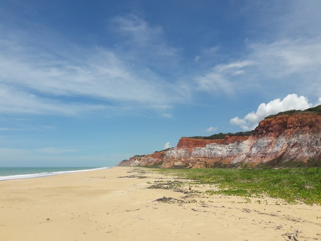 Falsias na praia do gunga