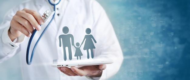 Concetto di assicurazione sanitaria familiare