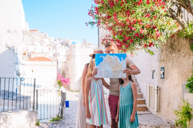 Famiglia di tre vacanze in vacanza europea