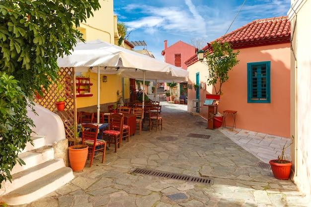 Famoso quartiere di placa ad atene, grecia