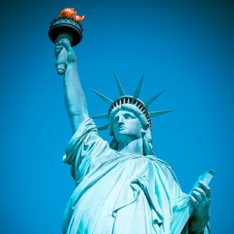 Famosa statua della libertà, new york, lavorazione fotografica speciale.