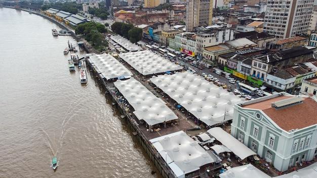 Famoso mercato ver-o-peso e il mercato del pesce a belém, para, brazil