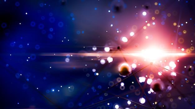 Fantastico sfondo spazio astratto nel rendering 3d illustrazione