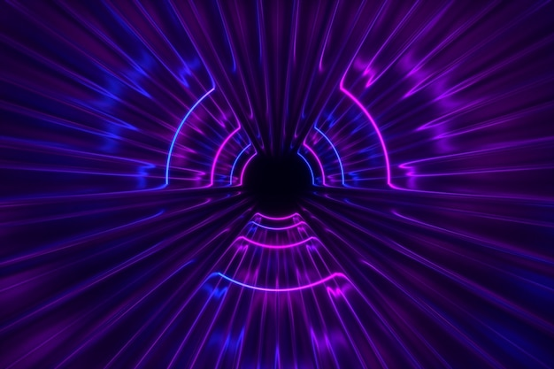 Fantastico sfondo di luci al neon