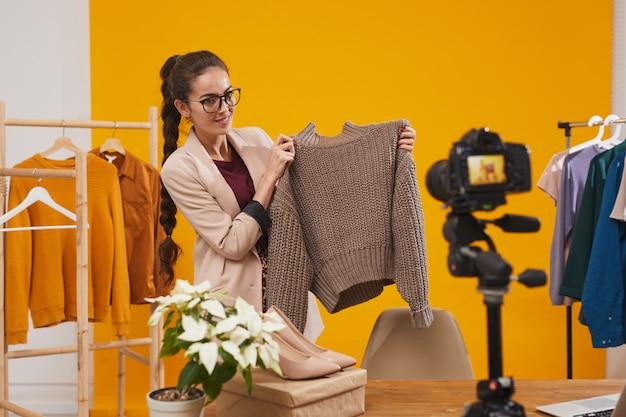 Video delle riprese di fashion blogger
