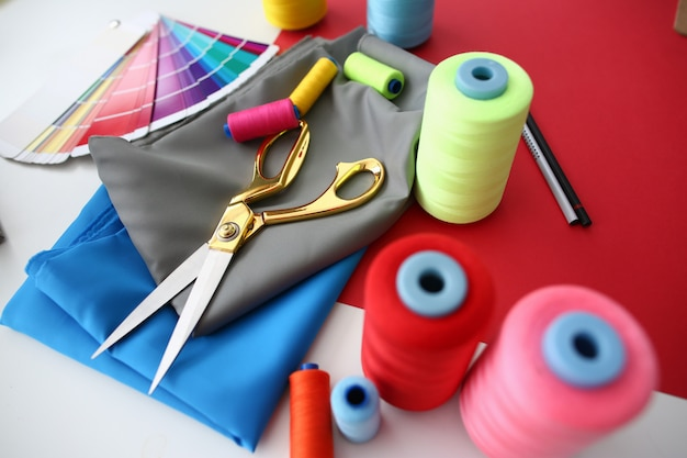 Fashion designing tailor craftsmanship concept