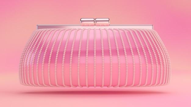Pochette elegante alla moda, borsetta. illustrazione 3d, rendering 3d.