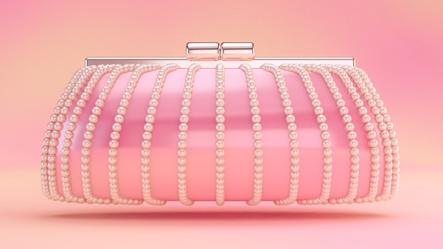 Alla moda elegante frizione, borsa 3d rendering illustrazione