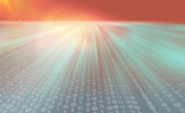 Trasmissione internet veloce e veloce di big data con tecnologia blockchain