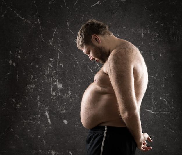 Profilo di uomo grasso