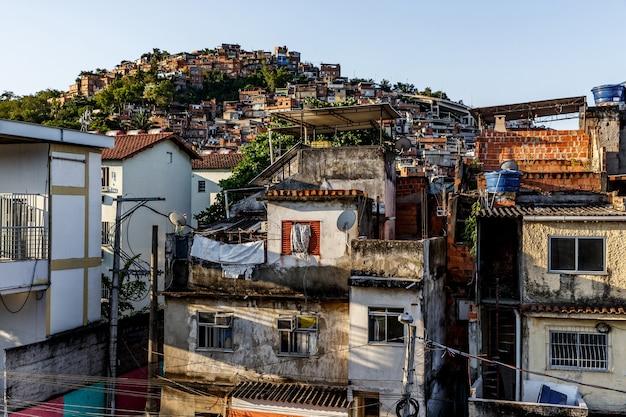 Favella a rio de janeiro, brasile.