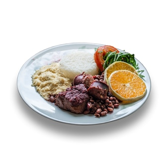 Piatto feijoada di cucina tradizionale brasiliana