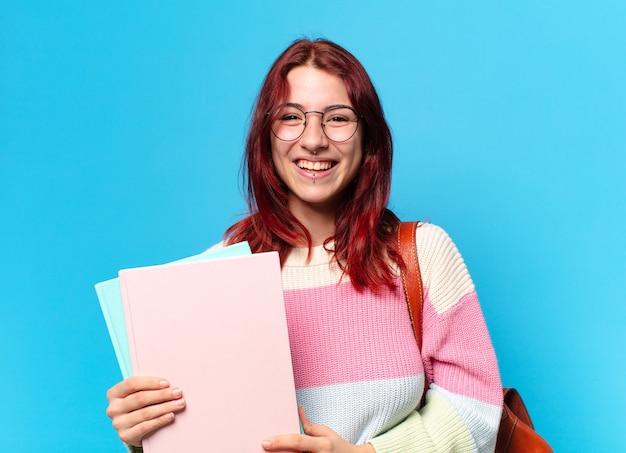 Studentessa con gli occhiali