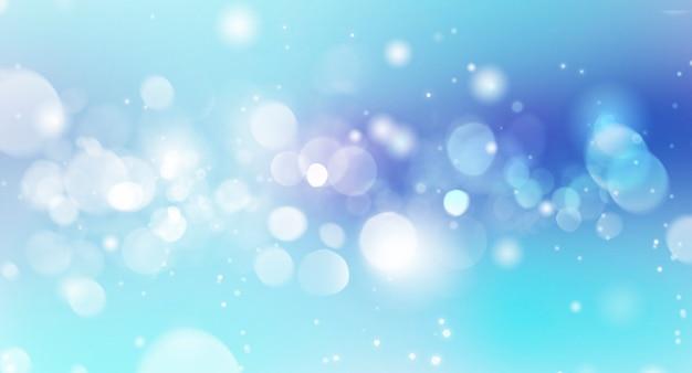 Fondo blu vago festivo del bokeh
